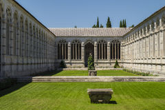 Pisa - inner courtyard of  the monumental cemetery. Royalty Free Stock Photo