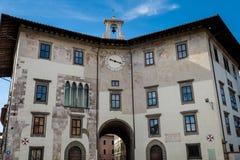 Pisa, Itália - 26 de fevereiro de 2017: A praça do quadrado de Knights' Imagem de Stock Royalty Free