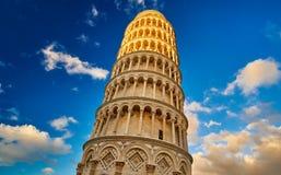 Pisa Itália, a torre inclinada de Pisa Foto de Stock