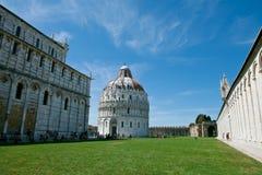 Pisa, Italië. De doopkapel van San Giovanni in Pisa Royalty-vrije Stock Afbeeldingen