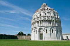 Pisa, Italië. De doopkapel van San Giovanni in Pisa Stock Fotografie