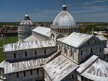Pisa, Italië - mening van Kathedraal van de Toren Royalty-vrije Stock Foto