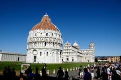 Pisa Italië Piazza Miracoli Stock Fotografie