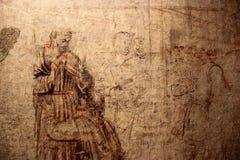 PISA ITALIEN - CIRCA FEBRUARI 2018: Sinopie museum på fyrkanten av mirakel royaltyfri bild