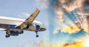 PISA, ITALY - AUG 25, 2015: British Airways airplane lands in Pi Royalty Free Stock Photo