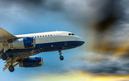PISA, ITALY - AUG 25, 2015: British Airways airplane lands in Pi Stock Photography