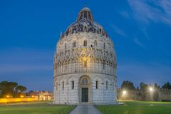 Pisa - Italy. Pisa Baptistery Battistero di San Giovanni Stock Photo