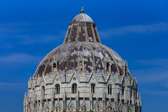 Pisa Italy. Baptistry on the Piazza dei Miracoli Stock Photography