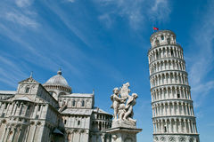 Pisa, Italy. Cathedral of Pisa with Leaning Tower Royalty Free Stock Image