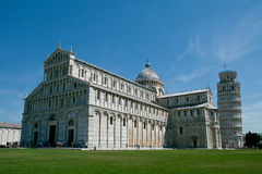 Pisa, Italy. Cathedral of Pisa with Leaning Tower Stock Photos