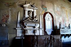 PISA, ITALY - CIRCA FEBRUARY 2018: The interior of the Monumental Cemetery at the Square of Miracles stock photo
