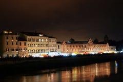 Pisa, Italy. City streets illuminated for San Ranieri Luminara Stock Images