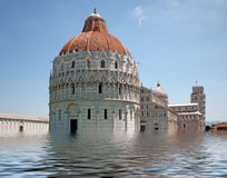 Pisa, Italy flooded - global warming etc Royalty Free Stock Photos