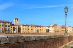 Riverside in Pisa Stock Photography