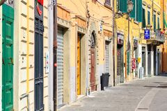 Typical street view of old town in Pisa, Tuscany, Italy Stock Photography