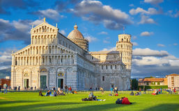 Pisa Italy, The Leaning Tower of Pisa Stock Photo
