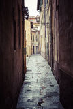 PISA, ITALY - MARCH 10, 2016: People visit Old Town of Pisa, Italy Royalty Free Stock Photography