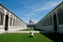 Pisa, Italy.  The monumental cemetery internal courtyard Royalty Free Stock Photo