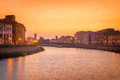 Pisa - Italy. Morning View of Pisa - Italy royalty free stock image