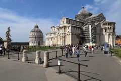Tourists at the cathedral of Pisa, Italy Royalty Free Stock Photography