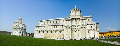 PISA, ITALY - Tourists visit Cathedral of Pisa Royalty Free Stock Image