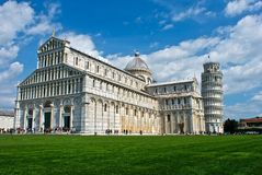 Pisa, Italy. A view of Piazza dei Miracoli in Pisa - Toscana Royalty Free Stock Photos