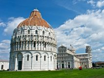 Pisa, Italy. A view of Piazza dei Miracoli in Pisa - Toscana Royalty Free Stock Images