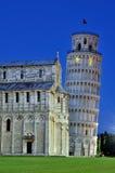pisa katedralny oparty wierza Zdjęcia Royalty Free