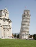 pisa La torre pendente famosa Immagini Stock Libere da Diritti