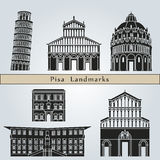 Pisa landmarks and monuments Stock Photography