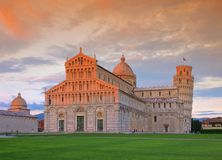 Pisa. The Leaning Tower and cathedral Royalty Free Stock Image