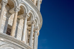 Pisa leaning tower close up detail view Stock Image
