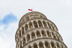 Pisa leaning tower detail of the upper part Stock Photography