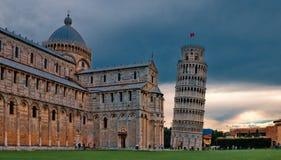 Pisa - Leunende Toren Stock Foto