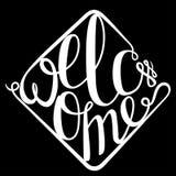 Pisać list powitanie dla twój projekta Fotografia Royalty Free