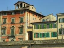 Pisa, Lungarni Stockfoto