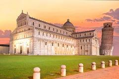 Pisa, Marktplatz dei miracoli. Stockbilder