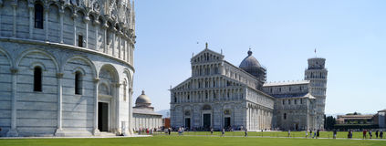 Pisa-Marktplatz dei Miracoli Stockfotografie