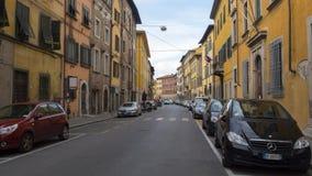 Pisa miasto, Włochy Widok stare ulicy i różnorodni budynki Zdjęcie Royalty Free