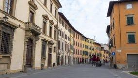 Pisa miasto, Włochy Widok stare ulicy i różnorodni budynki Zdjęcia Stock