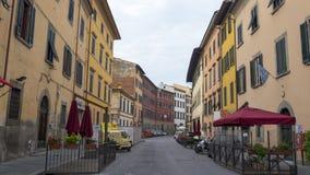 Pisa miasto, Włochy Widok stare ulicy i różnorodni budynki Obrazy Stock