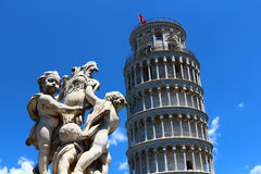 Pisa, miracle square and pisa tower Royalty Free Stock Images