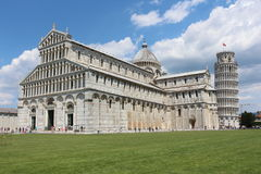 Pisa, miracle square and pisa tower Royalty Free Stock Photography