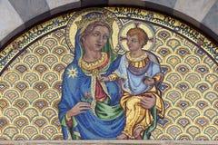 Pisa, mosaico de la iglesia de Santa Caterina Fotografía de archivo libre de regalías