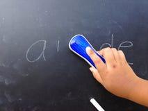 Pisać na blackboard Obraz Royalty Free