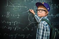 Pisać na blackboard Zdjęcie Stock