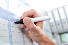 Pisać na mapie z markiera piórem Zdjęcia Stock