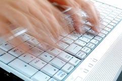 pisać na maszynie Obrazy Stock