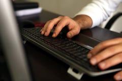 Pisać na maszynie dokument Zdjęcie Stock
