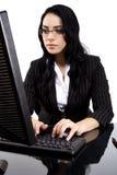 pisać na maszynie kobieta Obraz Stock